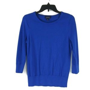LAND'S END 100% SUPIMA COTTON 3/4 Sleeve Blouse S